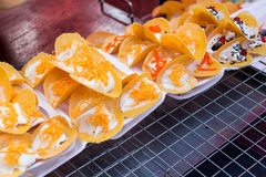 Thai crispy pancake Royalty Free Stock Photography