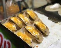 Thai crispy pancake & x22;Kanom Buang& x22;. Thai traditional dessert crispy pancake Royalty Free Stock Image
