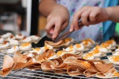 Thai crispy pancake Stock Images