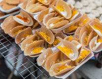 Thai crispy pancake for sale Stock Photo