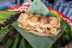 Thai crispy pancake shredded coconut inside Kind Stock Image