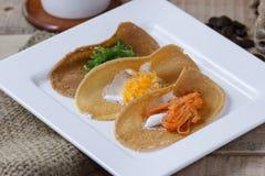 Thai crispy pancake,Thai dessert Royalty Free Stock Images