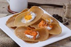 Thai crispy pancake,Thai dessert Stock Photo