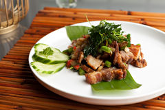 Thai Crispy Pork Meal Royalty Free Stock Image