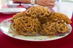 Thai crispy sweet snack Royalty Free Stock Photo