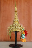 Thai crown. (chada ) equipment to put on head for Thai dancing Royalty Free Stock Photos