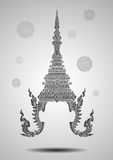 Thai crown vector Stock Photo