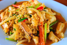 Thai cuisine. Fried crab with curry powder Royalty Free Stock Photos