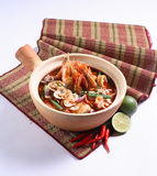 Thai Cuisine. Thai seafood 'tom yam' soup with clean lighting Stock Photos