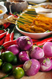 Thai cuisine,Chicken Satay,Beef Satay. Royalty Free Stock Photo