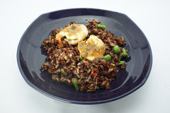 Thai cuisine , Chilli paste fried rice with prawn and Fried Egg Stock Photography