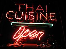 Thai Cuisine Dining Stock Photography