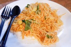 Vermicelli Fried Royalty Free Stock Photography
