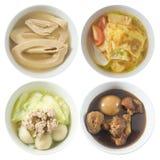 Four Style of Thai Soups on White Background stock photo