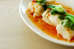 Thai cuisine   hot and sour lemon fish. Thai cuisine - hot and sour lemon fish Stock Photos