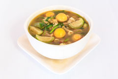 thai cuisine hot spicy chicken  soup Stock Image