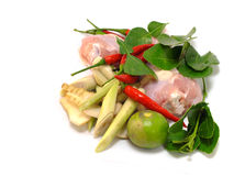 Thai cuisine ingredients spicy soup Stock Photography