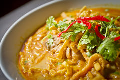 Thai Cuisine - Khao Soi Royalty Free Stock Images