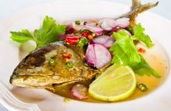 Thai cuisine mackerel Royalty Free Stock Photos