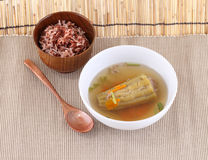 Thai cuisine name Stuffed bitter gourd.,Filling is made of groun Royalty Free Stock Photos