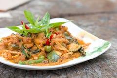 Thai cuisine - Pork with vegetables Stock Photo