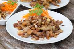 Thai cuisine - Pork with vegetables Royalty Free Stock Images
