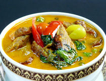 Thai cuisine, red curry with roast duck Stock Photo