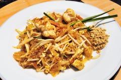 Thai Cuisine: Shrimp Salad with Sauce and peanut flour - selecti Royalty Free Stock Photo