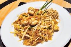 Thai Cuisine: Shrimp Salad with Sauce and peanut flour - selecti Stock Photos
