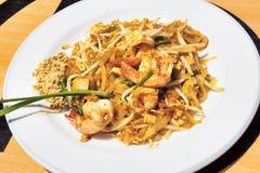 Thai Cuisine: Shrimp Salad with Sauce and peanut flour - selecti Royalty Free Stock Photos