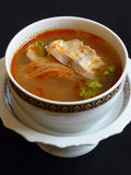 Thai cuisine, tom yam pla Royalty Free Stock Images