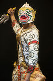"Thai Culture Dancing art in masked ""Khon"" that high class of Royalty Free Stock Image"