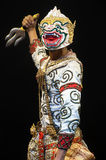 "Thai Culture Dancing art in masked ""Khon"" that high class of Royalty Free Stock Photography"