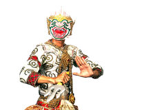 "Thai Culture Dancing art in masked ""Khon"" that high class of Royalty Free Stock Images"