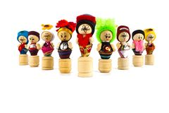 Thai culture dolls Royalty Free Stock Photography