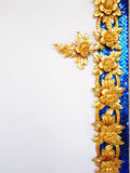 Thai culture pattern decorative on white wall. Stock Photos