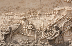 Thai culture stone carving Stock Image