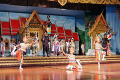 Thai Culture and traditional dances show Stock Photo