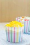 Thai Cupcake, Cupcake gold Egg Yolks Thread Royalty Free Stock Photo