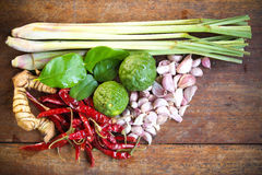Thai curry Ingredient. Herb in thai curry Ingredient Royalty Free Stock Photo