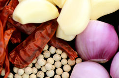 Thai Curry Ingredients. Royalty Free Stock Images