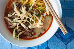 Thai curry noodle Stock Photo