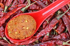 Thai Curry Paste to make spicy curries Stock Photo