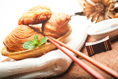 Thai curry puffs Royalty Free Stock Images