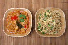 Thai Curry and Rice Meal royalty free stock images