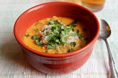 Thai curry soup Stock Photos