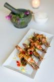 Thai cusine prawn with tamarind sauce. Royalty Free Stock Photos