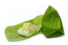Thai Custard. In the green leaf Royalty Free Stock Photography
