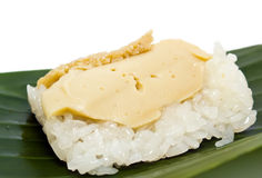 Thai custard with sticky rice Stock Image