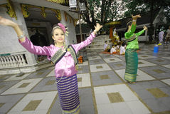 Thai dance during festival Stock Photos